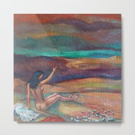Cote d'azur, Adieu; French female nude portrait painting by Quintas Martin Metal Print