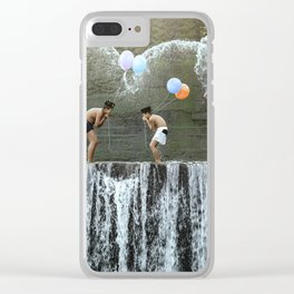 Rare meplayanan yeh (anak anak bermain air, children playing with water) Clear iPhone Case