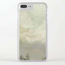 Spruce Trees After The Storm Clear iPhone Case