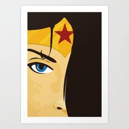 Wonder, Hero DC, Woman Art Print