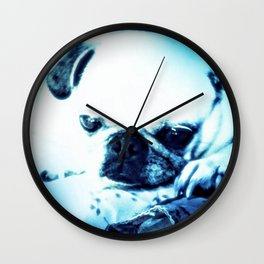 PUG LOVE ~ A Lovely Little Old Lady Wall Clock
