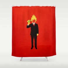 The Tragic Death of Mr. Burns Shower Curtain