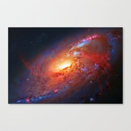 Spiral Galaxy in the Hunting Dogs constellation Canvas Print
