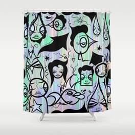 Feel The Happy Shower Curtain