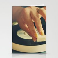 vinyl Stationery Cards featuring Vinyl by Gina Conti
