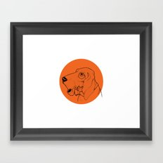 Canis Framed Art Print