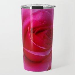 LARGE FUCHSIA PINK ROSE PATTERN ART Travel Mug