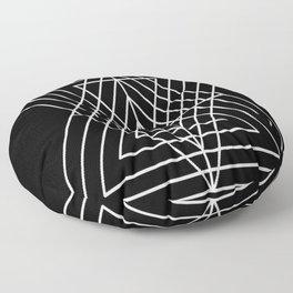 Overlapping Triangles ( Black & White) Floor Pillow
