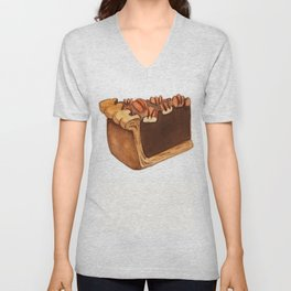 Pecan Pie Slice Unisex V-Neck