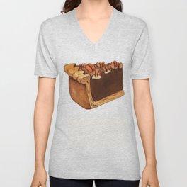 Pecan Pie Slice Unisex V-Neck
