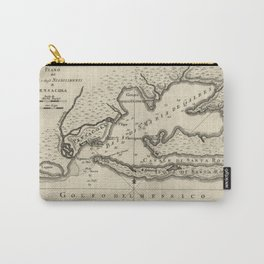 Vintage Map of Pensacola Florida (1763) Carry-All Pouch
