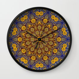 Vintage Morrocan Tile Wall Clock