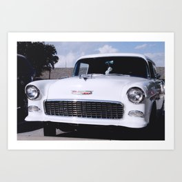 '55 Chevy Wagon Art Print