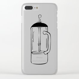 Coffee Tools: French press Clear iPhone Case