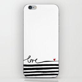 LOVE lines iPhone Skin