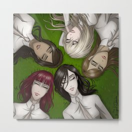 Girls on the grass Metal Print