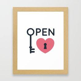 Open Heart Key Tshirt Gift Framed Art Print
