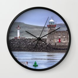 Howth Harbour 2 Wall Clock