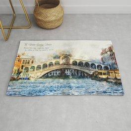 Rialto Bridge, Venice, Italy Rug