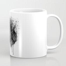Black and White Horse Head Watercolor Silhouette Coffee Mug