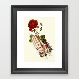"""Forgiven"" anatomical collage art by Bedelgeuse Framed Art Print"
