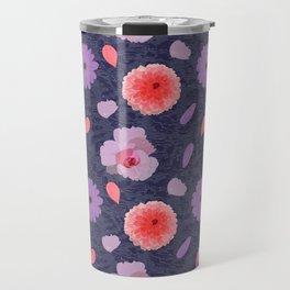 Flowers vintage Pattern Travel Mug