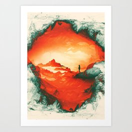 Occupy Mars a Red Sci fy Landscape Art Print