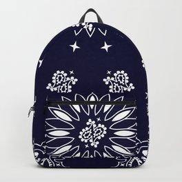 Paisley - Bandana - Navy Blue - Southwestern - Cowboy Backpack