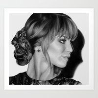 jennifer lawrence Art Prints featuring Jennifer Lawrence by Emma Porter