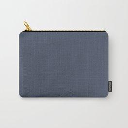Dark Slate Blue Gray Carry-All Pouch