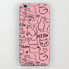 Meow Cats iPhone Skin