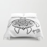 turtle Duvet Covers featuring Turtle by Sydney Gifford