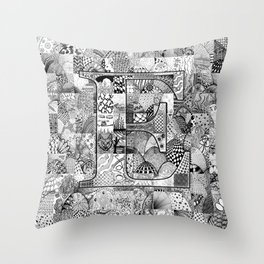 The Letter E Throw Pillow