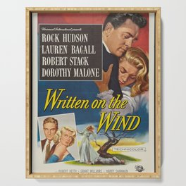 Classic Movie Poster - Written on the Wind Serving Tray