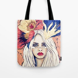 WARRIOR GIRL PAINTING Tote Bag