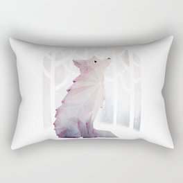 Fox in the Snow Rectangular Pillow