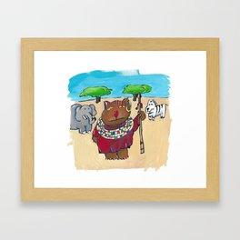Tanzania Cat Framed Art Print