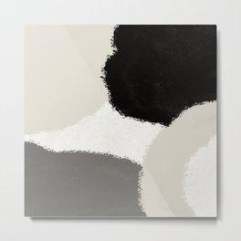 Earth Tone Abstract Metal Print