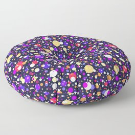 Bright Happy Night Bubbles Lights Floor Pillow