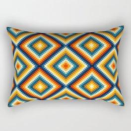 Colorful aztec diamonds pattern Rectangular Pillow