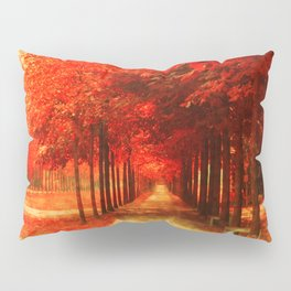 Tree Alley Autumn painted Pillow Sham