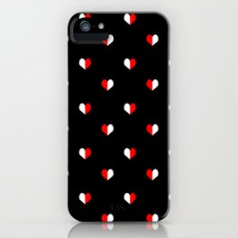 Red and White hearts valentines day minimalist basic love gifts pattern print for bea iPhone Case