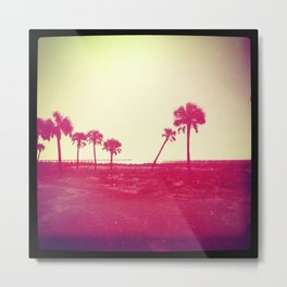 palm trees sunset Metal Print