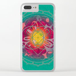 Love Bomb Clear iPhone Case