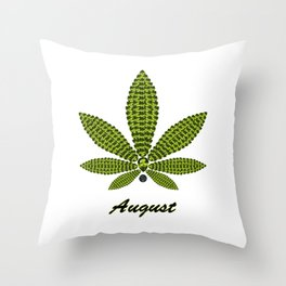 Birthstoned Leaf of Month, August Peridot Throw Pillow