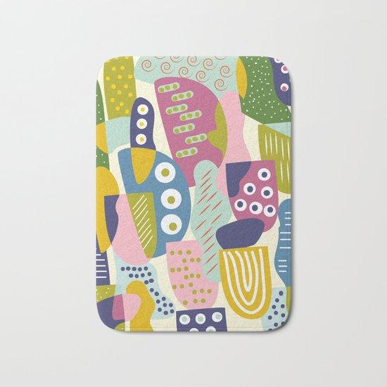 Colourful print Bath Mat
