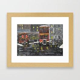 At the Station Framed Art Print