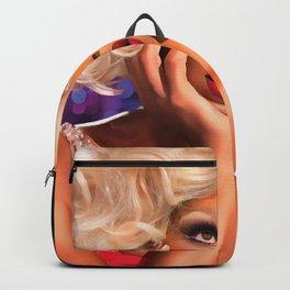 Rupaul Dragrace in Red Backpack