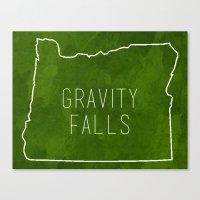 gravity falls Canvas Prints featuring Gravity Falls by pondlifeforme