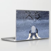 sasuke Laptop & iPad Skins featuring By My Side by ocean